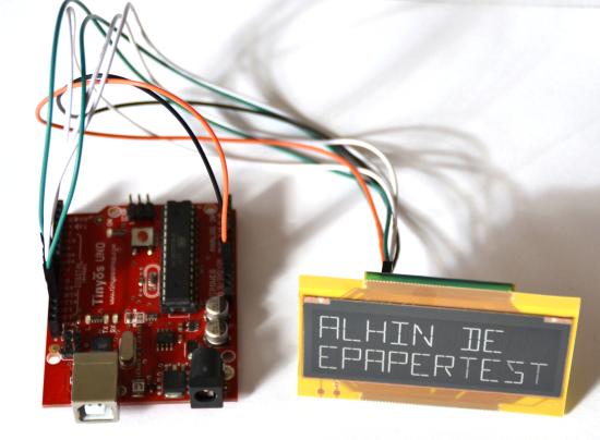 e-Paper Shield i Arduino - starter