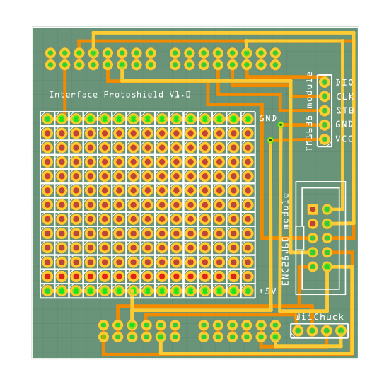Interface Shield PCB